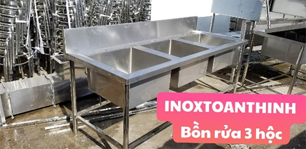 Bồn rửa 3 hộc | Inox Toàn Thịnh