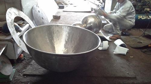 Chảo xào hơi có dung tích 100 lít cho một lần nấu