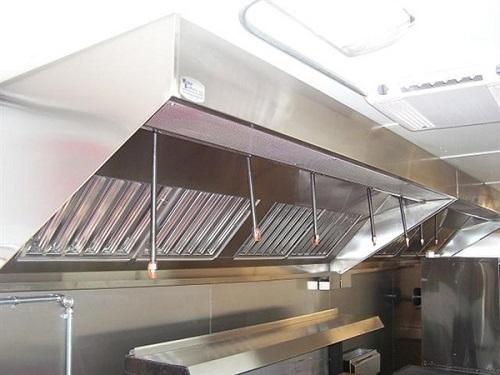 Hệ thống chụp hút khói ở bếp nhà hàng