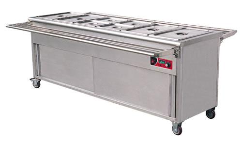 Tủ hâm nóng thức ăn bằng chất liệu inox nên có thời gian sử dụng lâu
