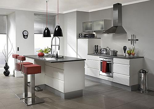 Các thiết bị bếp luôn phải sạch sẽ ngăn nắp để khích lệ, động viên cánh mài râu vào bếp